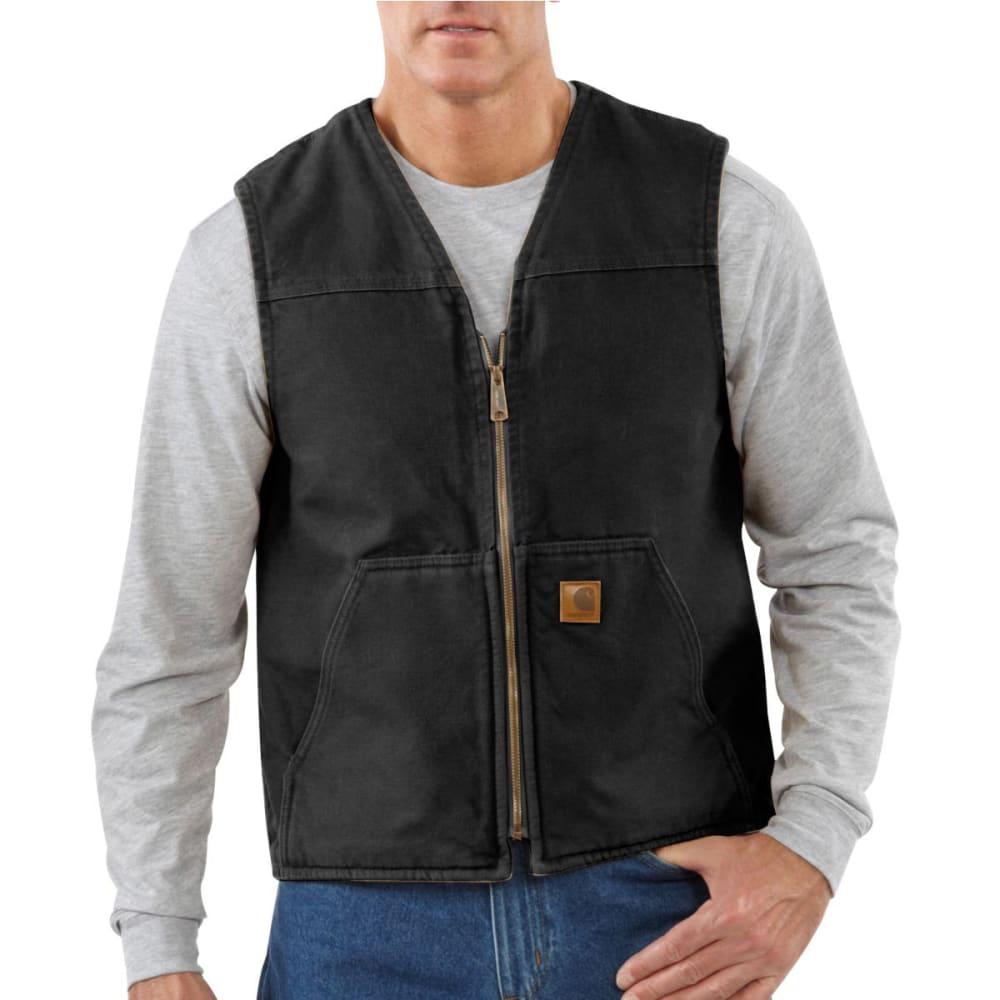 CARHARTT Men's Sandstone Sherpa Lined Vest - BLACK