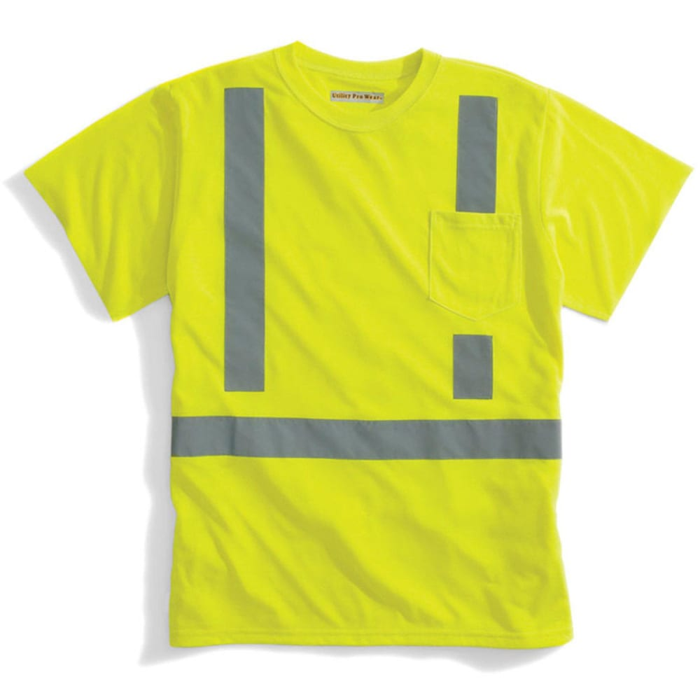 ULTILITY PRO WEAR Men's High Visibility Tee - LIME/YELLOW