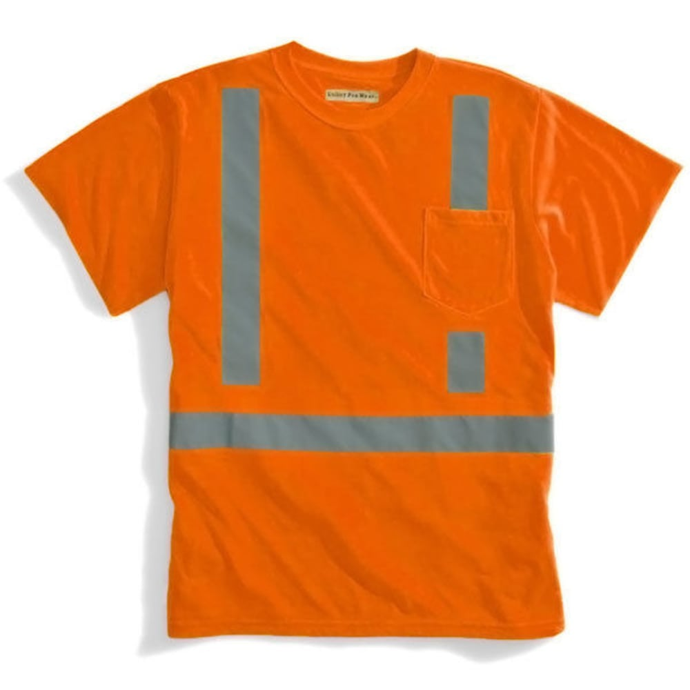 ULTILITY PRO WEAR Men's High Visibility Tee - BRIGHT ORANGE