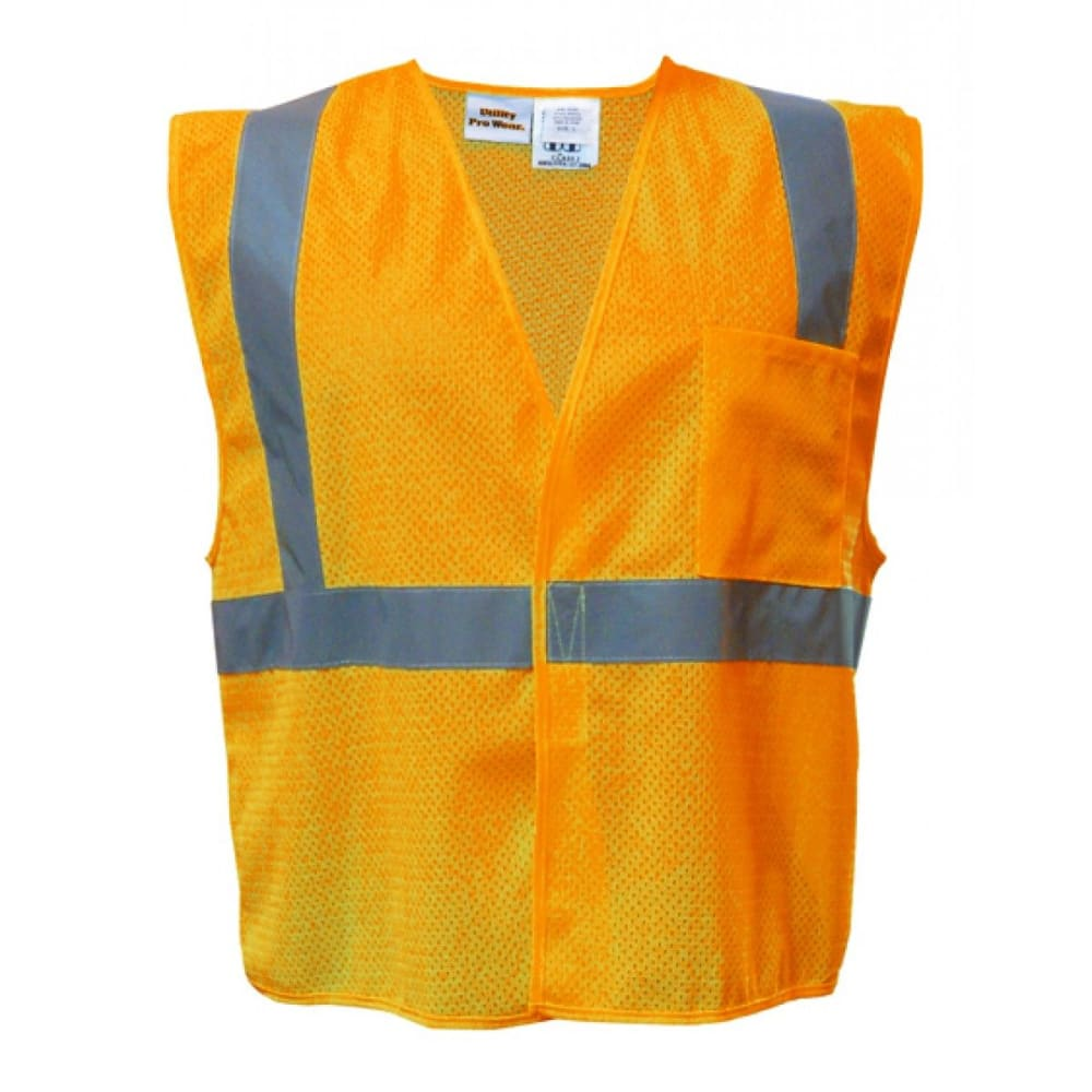 UTILITY PRO WEAR Men's High Visibility Tear Away Vest - FLASH LIME/GREY