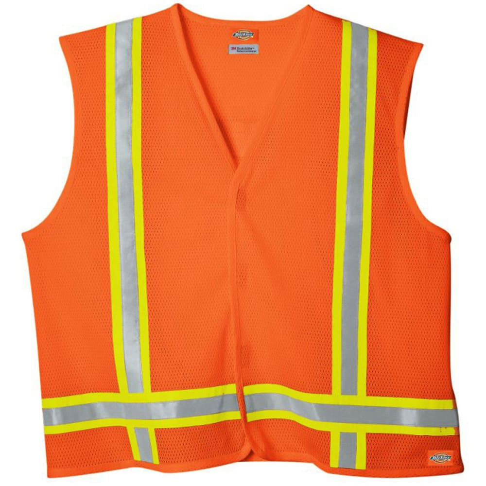 DICKIES Men's VE200 High Visibility ANSI Class 1 Safety Vest - ANSI ORANGE