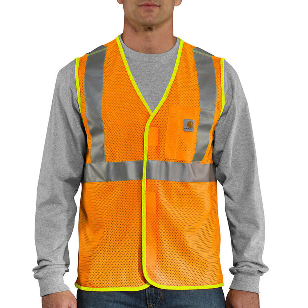 CARHARTT Men's Big and Tall High-Visibility Class 2 Vest - BRIGHT ORANGE