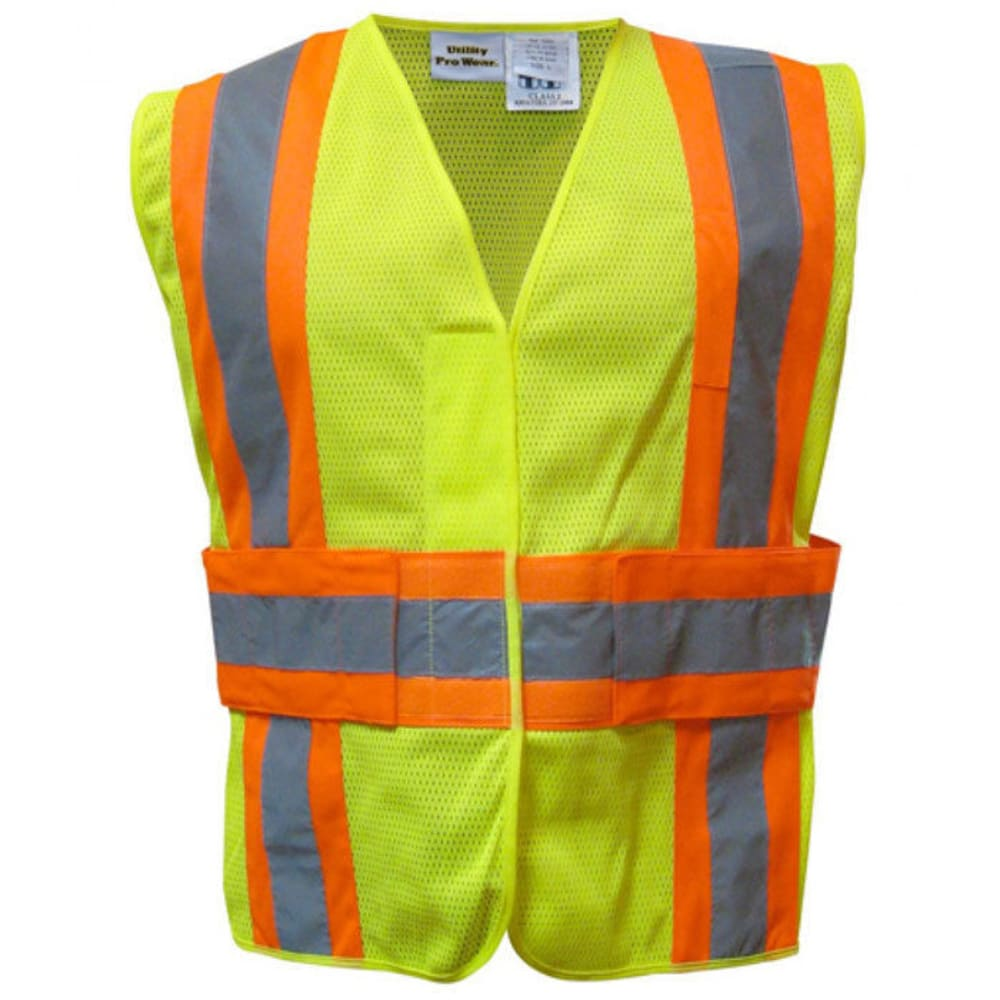 UTILITY PRO Men's High-Visibility Tear-Away Safety Vest - LIME