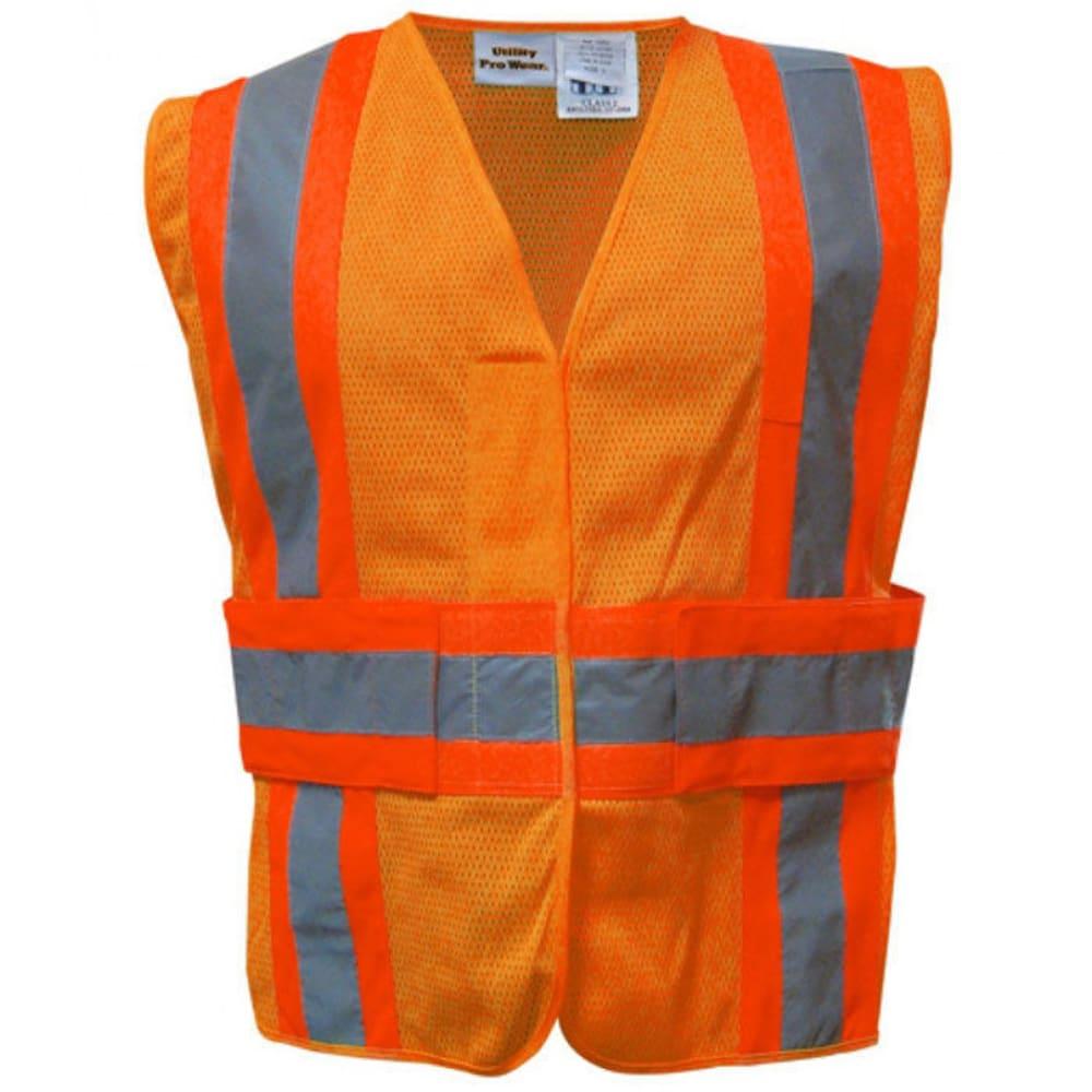 UTILITY PRO Men's High-Visibility Tear-Away Safety Vest - FLR ORANGE