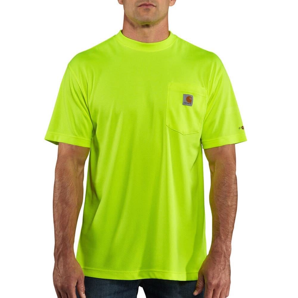CARHARTT Men's Force T-Shirt, Extended sizes - BRIGHT LIME