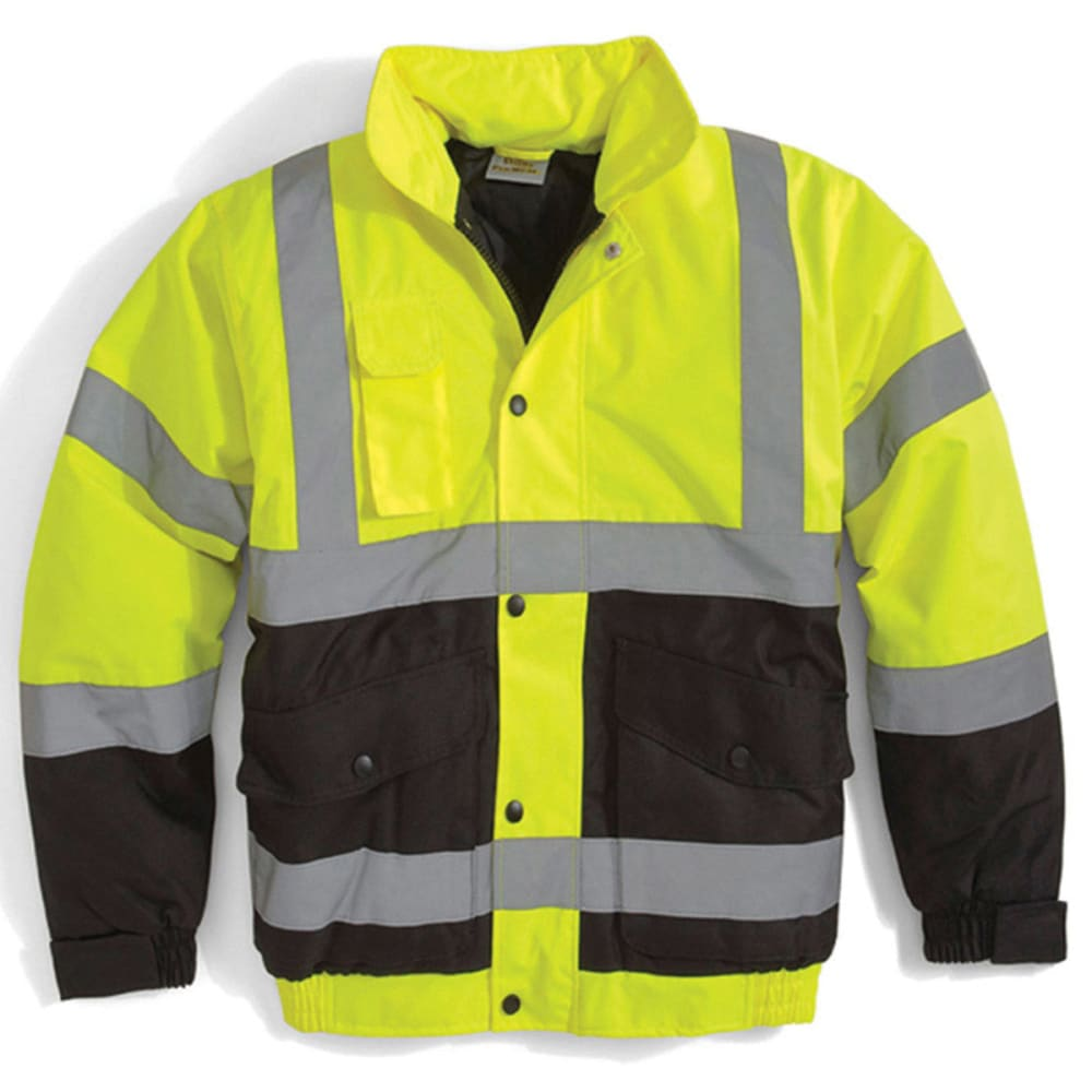 Utility Pro Wear UHV 562 High Visibility Bomber Jacket - LIME