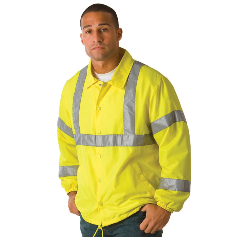 UTILITY PRO WEAR Men's High Visibility Windbreaker - LIME
