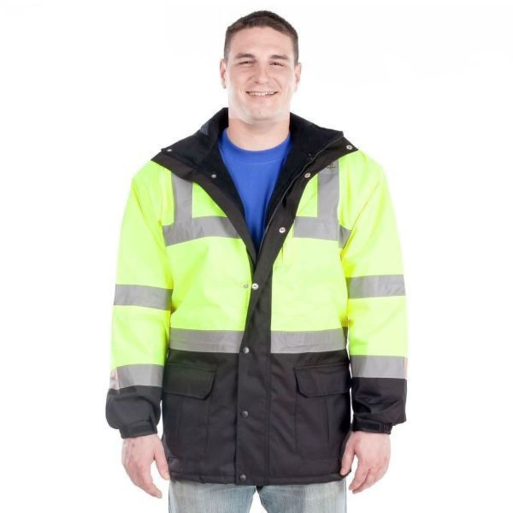 UTILITY PRO Men's High-Visibility Parka Jacket - HI VIS LIME