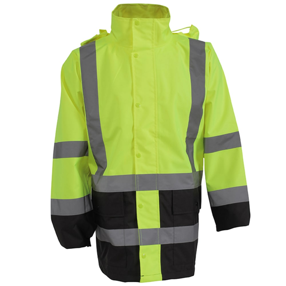 UTILITY PRO Men's High-Visibility Economy Rain Jacket - LIME