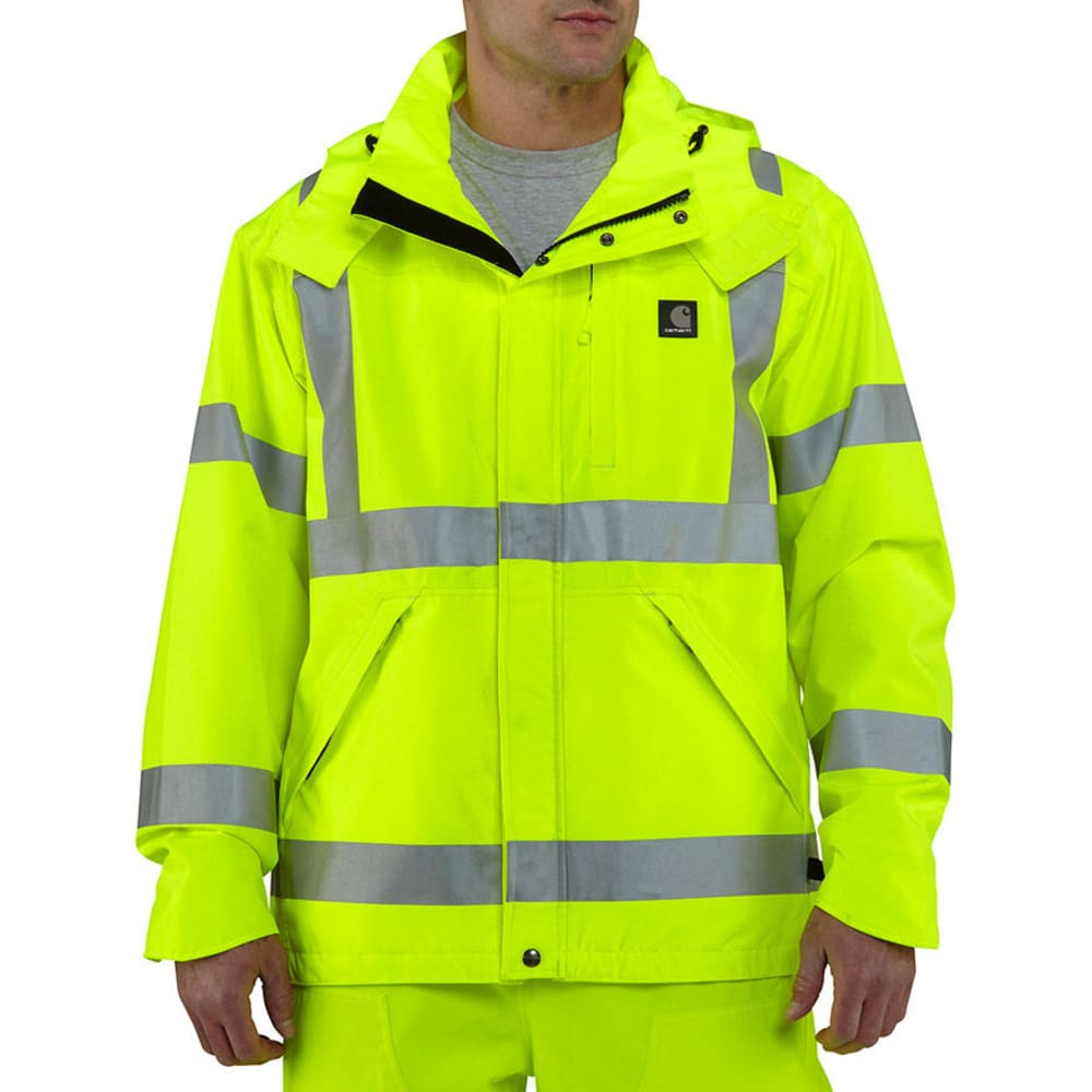 CARHARTT Men's High-Visibility Class 3 Waterproof Jacket - BRIGHT LIME