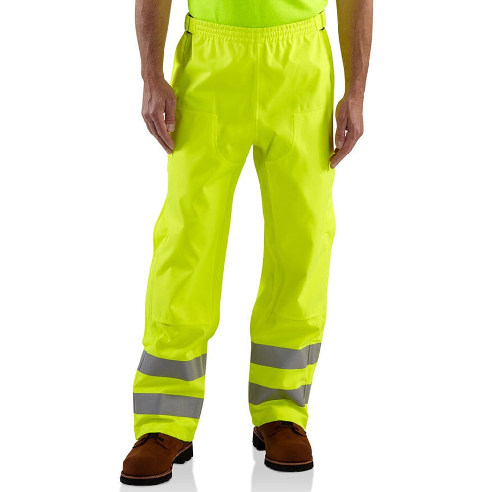 CARHARTT Men's High-Visibility Class E Waterproof Pants - BRIGHT LIME