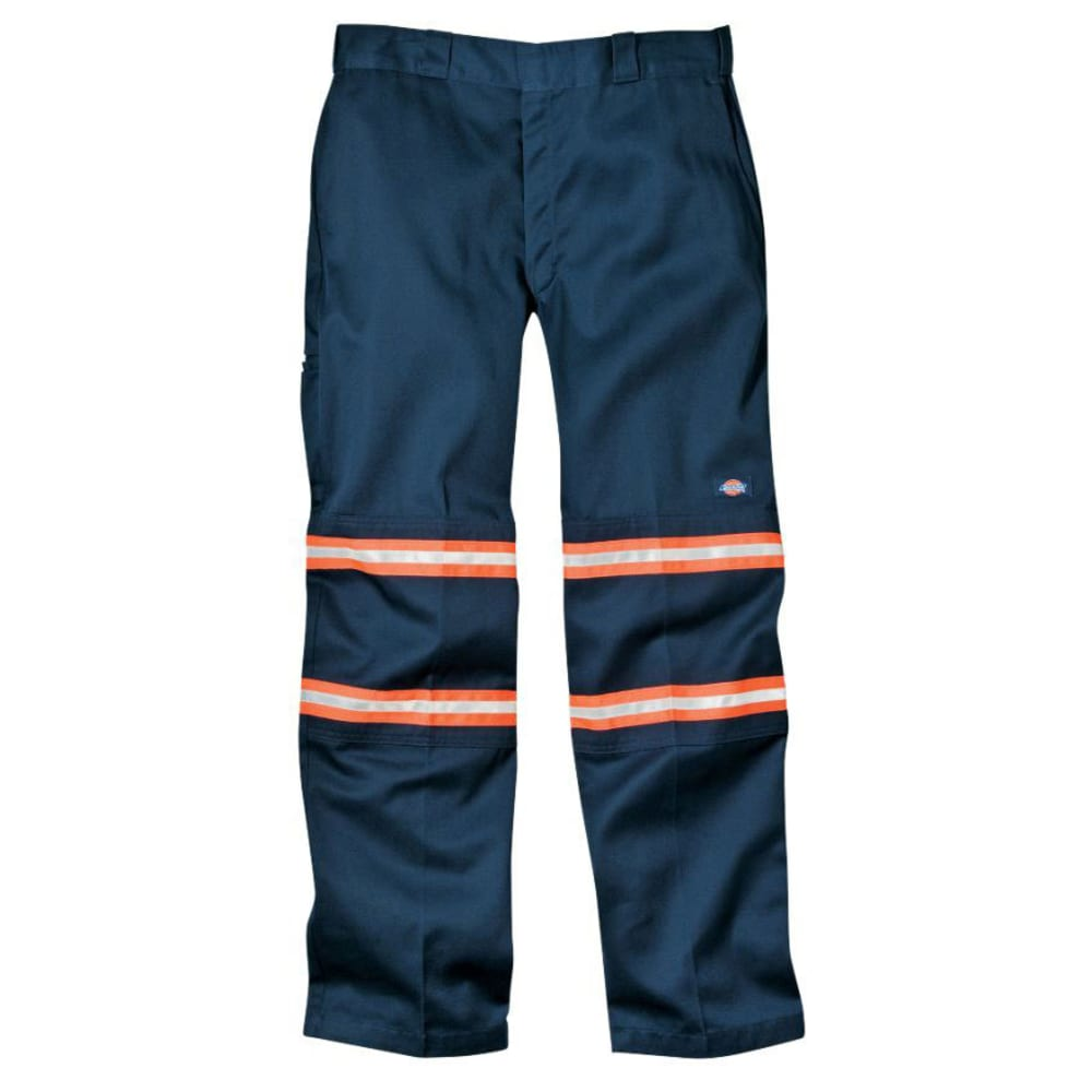 DICKIES Men's VP903 Enhanced Visibility Double Knee Pants (Non ANSI) - DARK NAVY