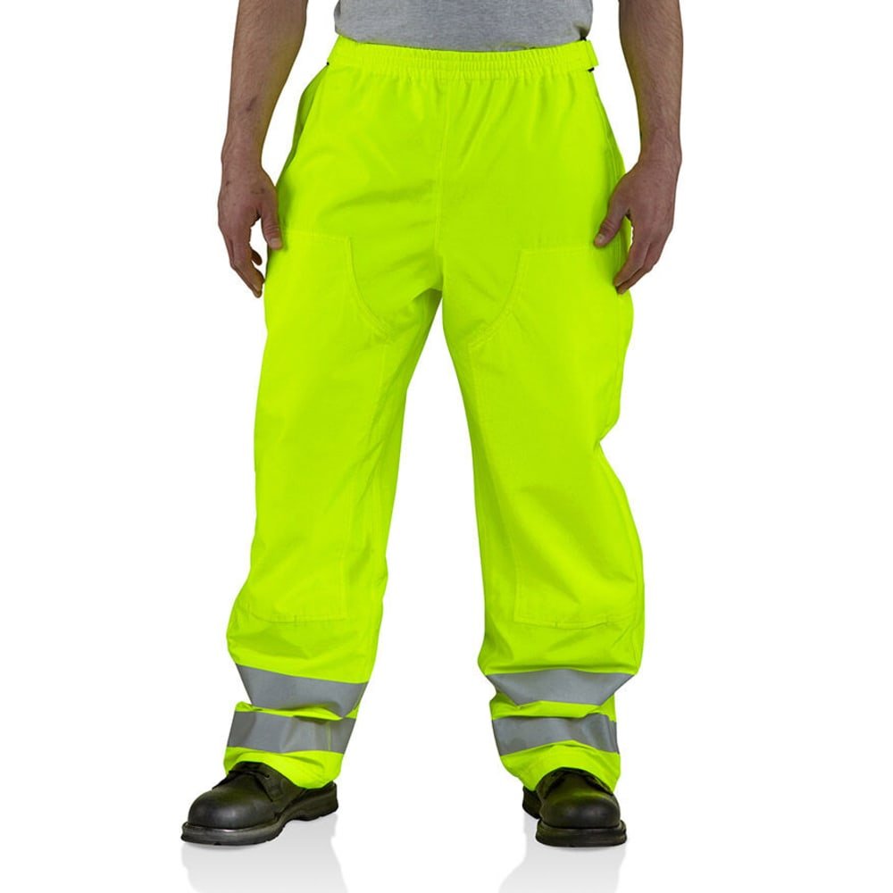 CARHARTT Men's High-Visibility Class 3 Waterproof Pants - BRIGHT LIME