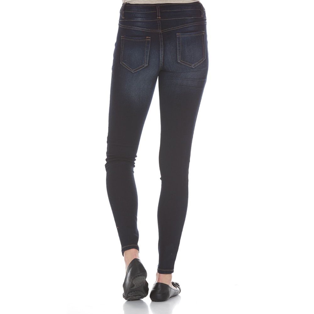 BLUE SPICE Juniors' High Waist Skinny Jeans - MEDIUM WASH