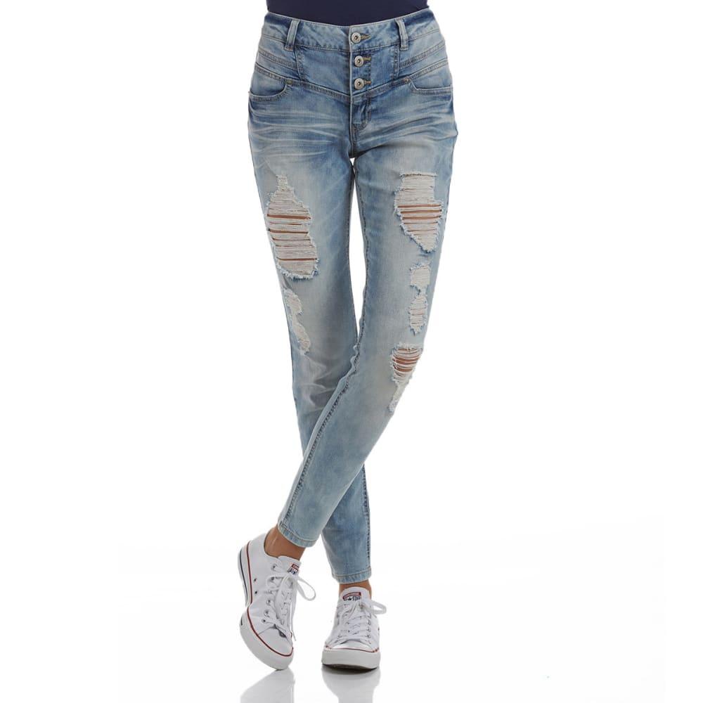 BLUE SPICE Juniors' High Rise Jeans - LIGHT WASH