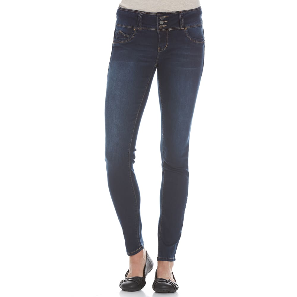 YMI Juniors' Wanna Betta Butt Denim Jeggings - S08-DARK WASH