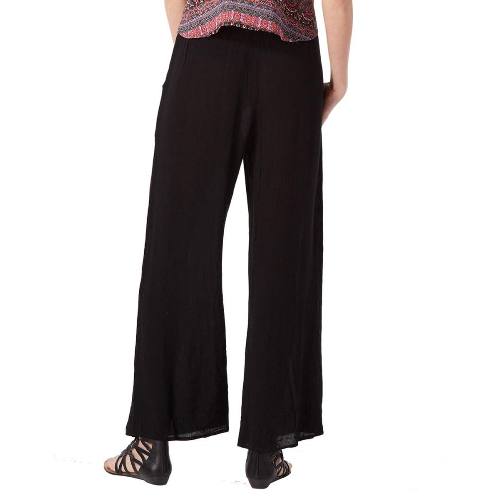 AMBIANCE Juniors' Crinkle Harem Pants - BLACK