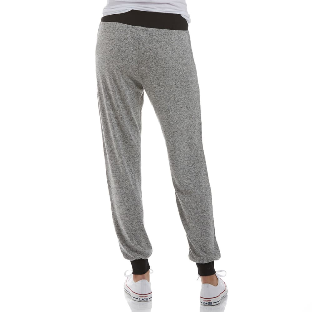 MISS CHIEVOUS Juniors' Hacci Jogger Pants - GREY