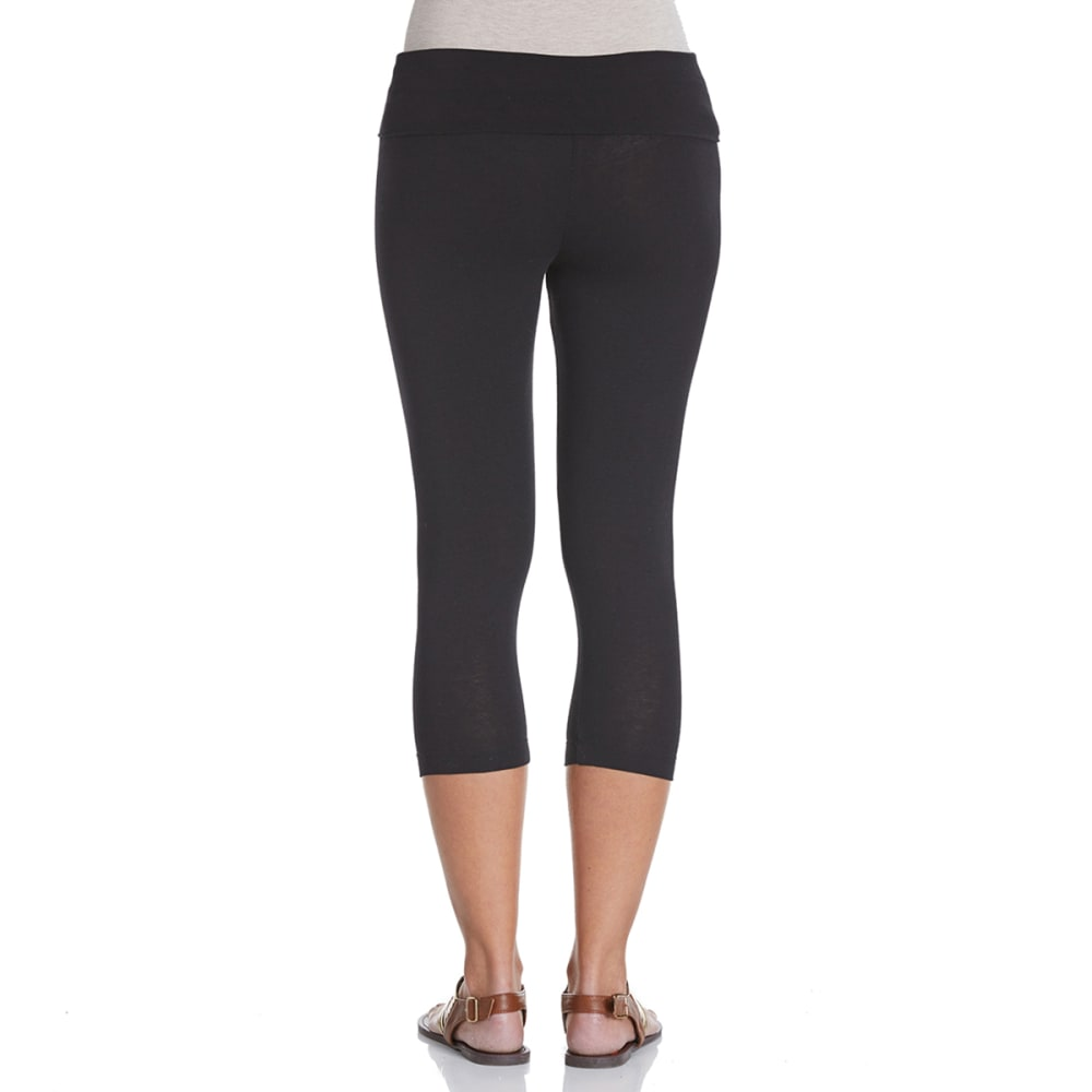 ZENANA Juniors' Yoga Capris - BLACK
