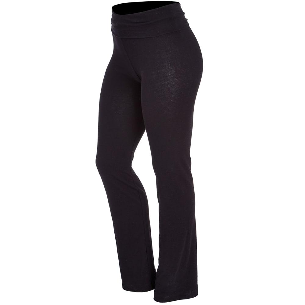 ZENANA Juniors' Yoga Pants - BLACK