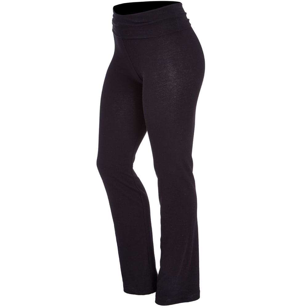 ZENANA Juniors' Yoga Pants - BLACK