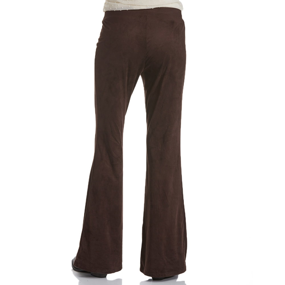 JOE BENBASSET Juniors' Fit and Flare Sueded Pants - DARK BROWN