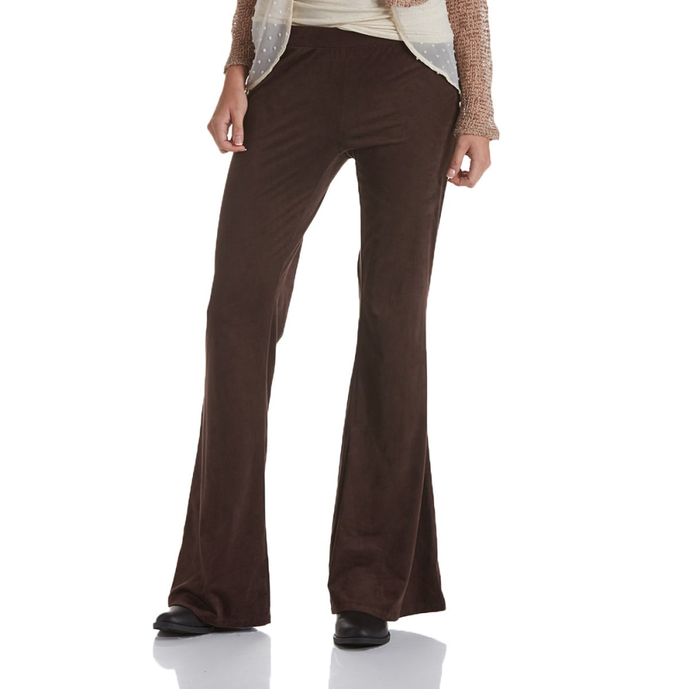 JOE BENBASSET Juniors' Fit and Flare Sueded Pants - DARK BROWN