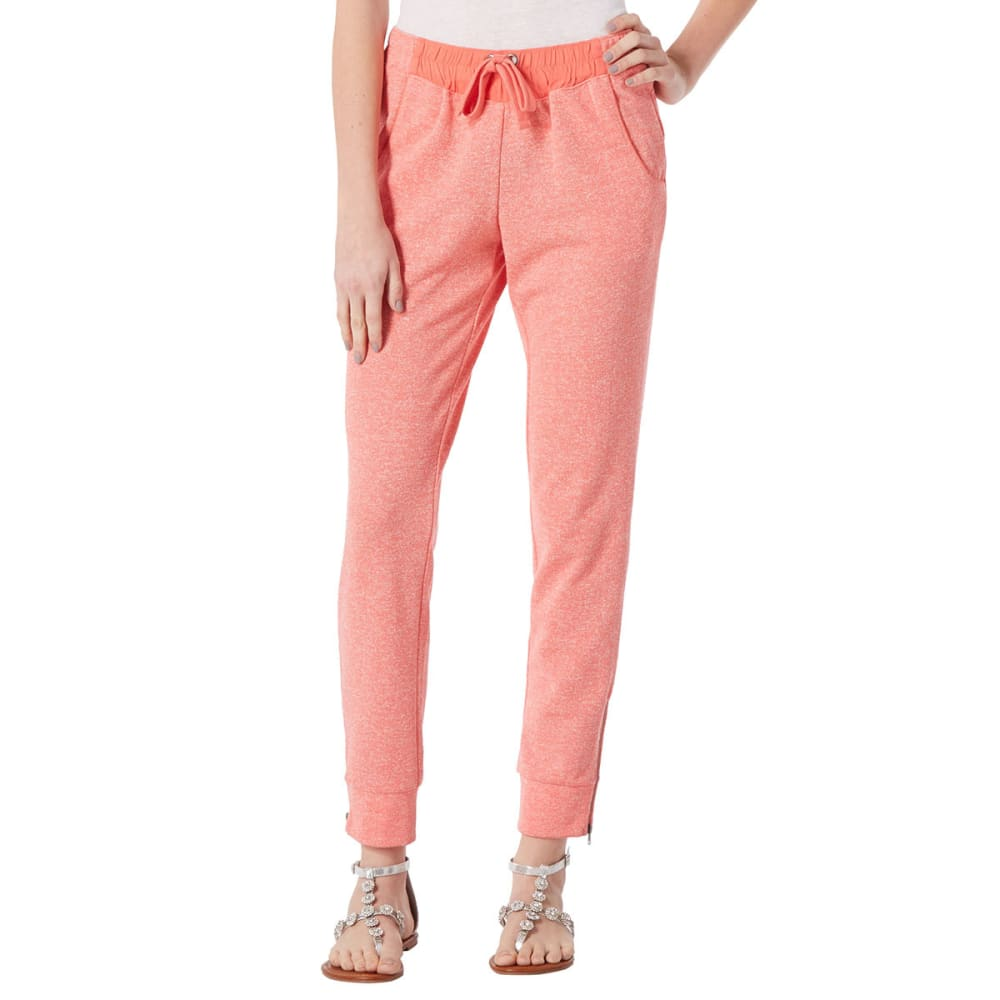 EVOLUTIONARY APPAREL Juniors' Marled Jogger - CORAL