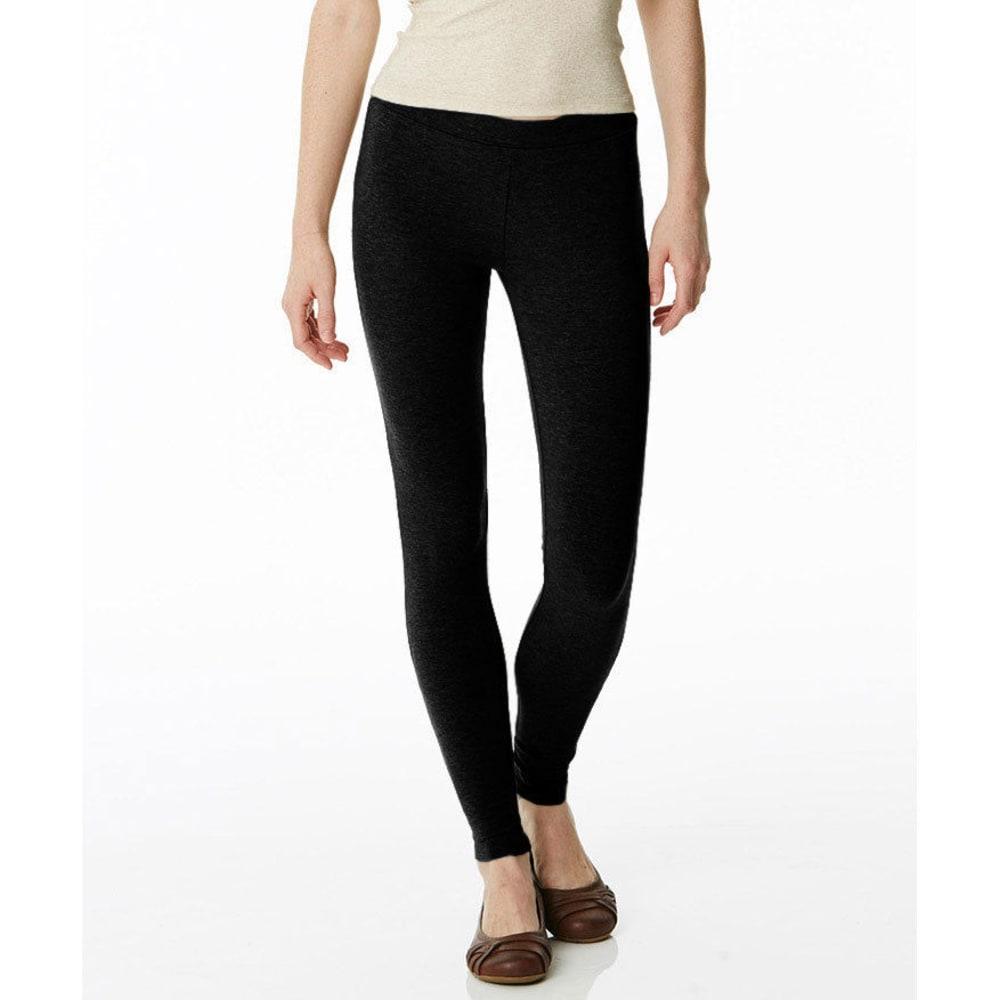 POOF Juniors' Basic Cotton Leggings - BLACK