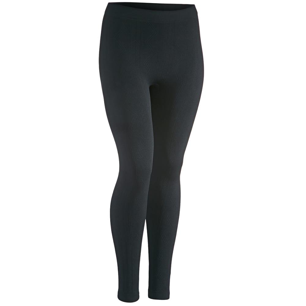 PINK ROSE Juniors' Vertical Chevron Fleece Leggings - BLACK