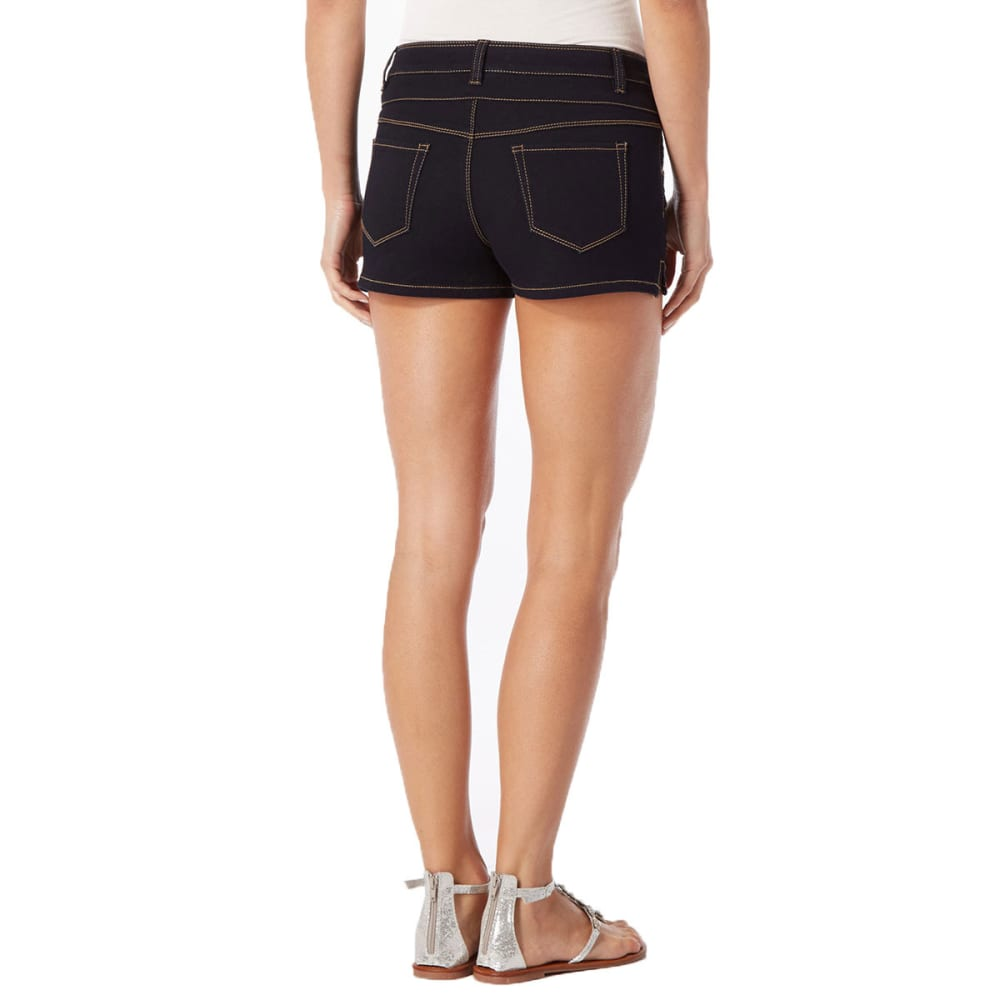 SQUEEZE Juniors' 3 Button High-Waisted Shorts - RINSE WASH