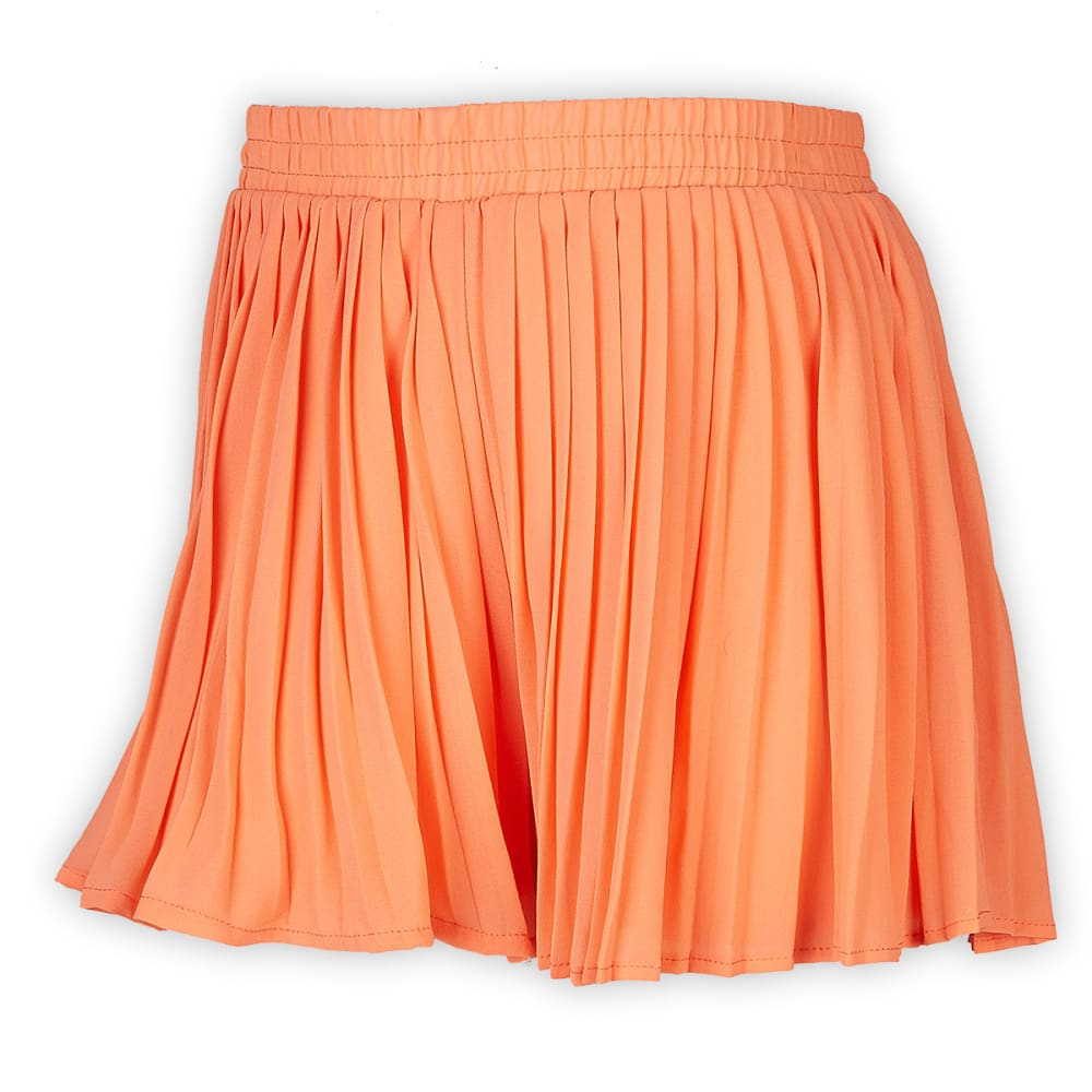 TAYLOR & SAGE Juniors' Chiffon Pleated Shorts - CORAL