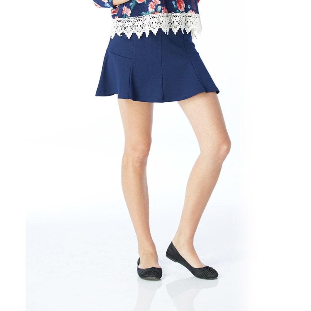 AMBIANCE Juniors' Peplum High Waist Skirt - ECLIPSE