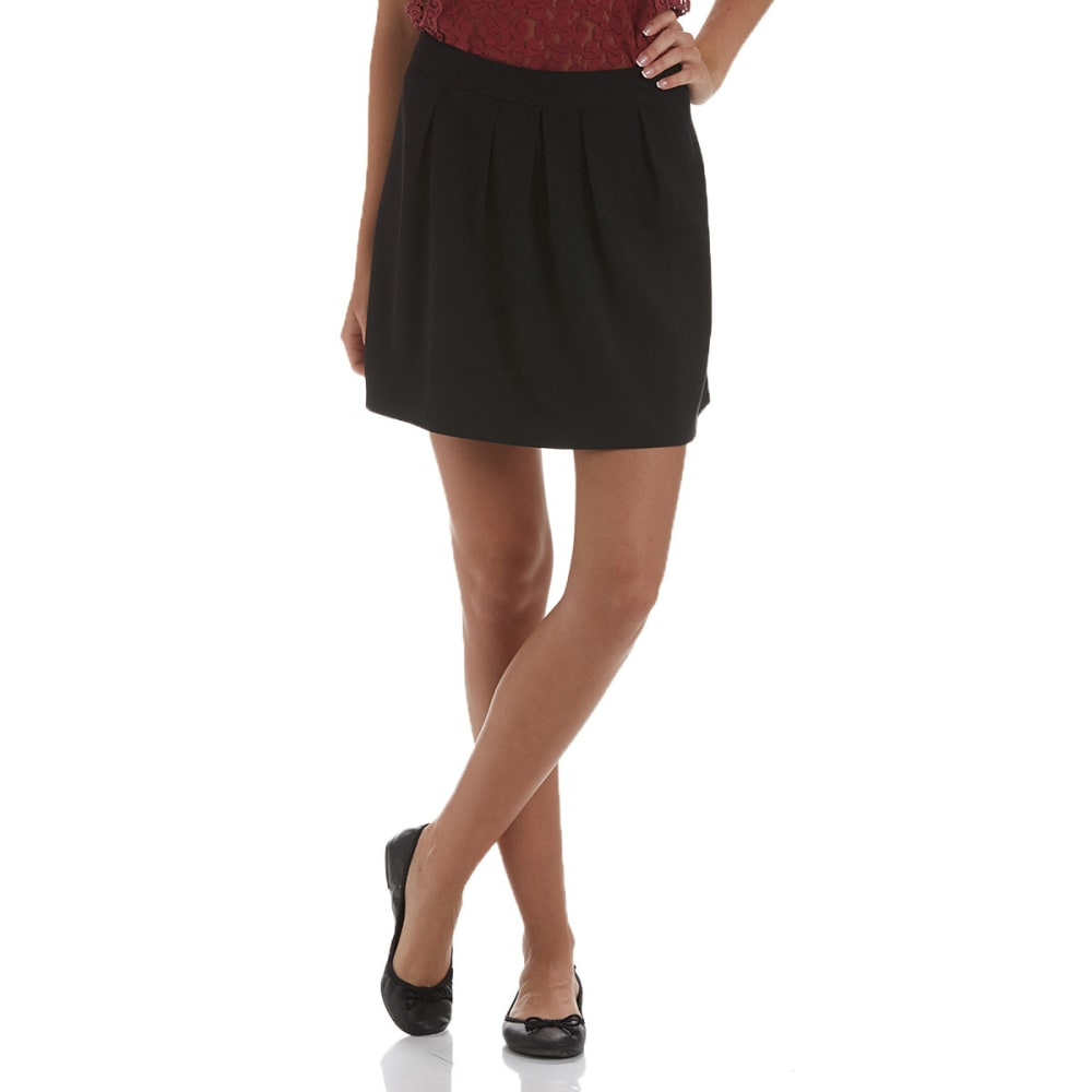 JOE BENBASSET Juniors' Skater Pleated Skirt - BLACK