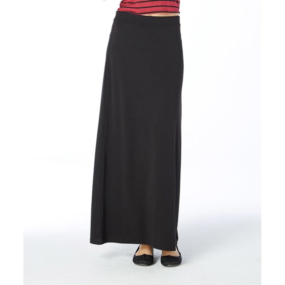AMBIANCE Juniors' Maxi Knit High Waist Skirt - BLACK