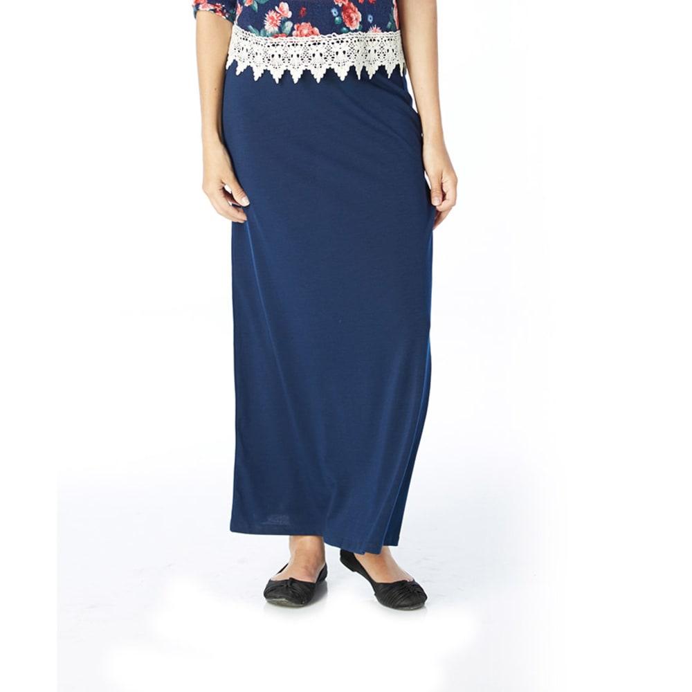 AMBIANCE Juniors' Maxi Knit High Waist Skirt - ECLIPSE