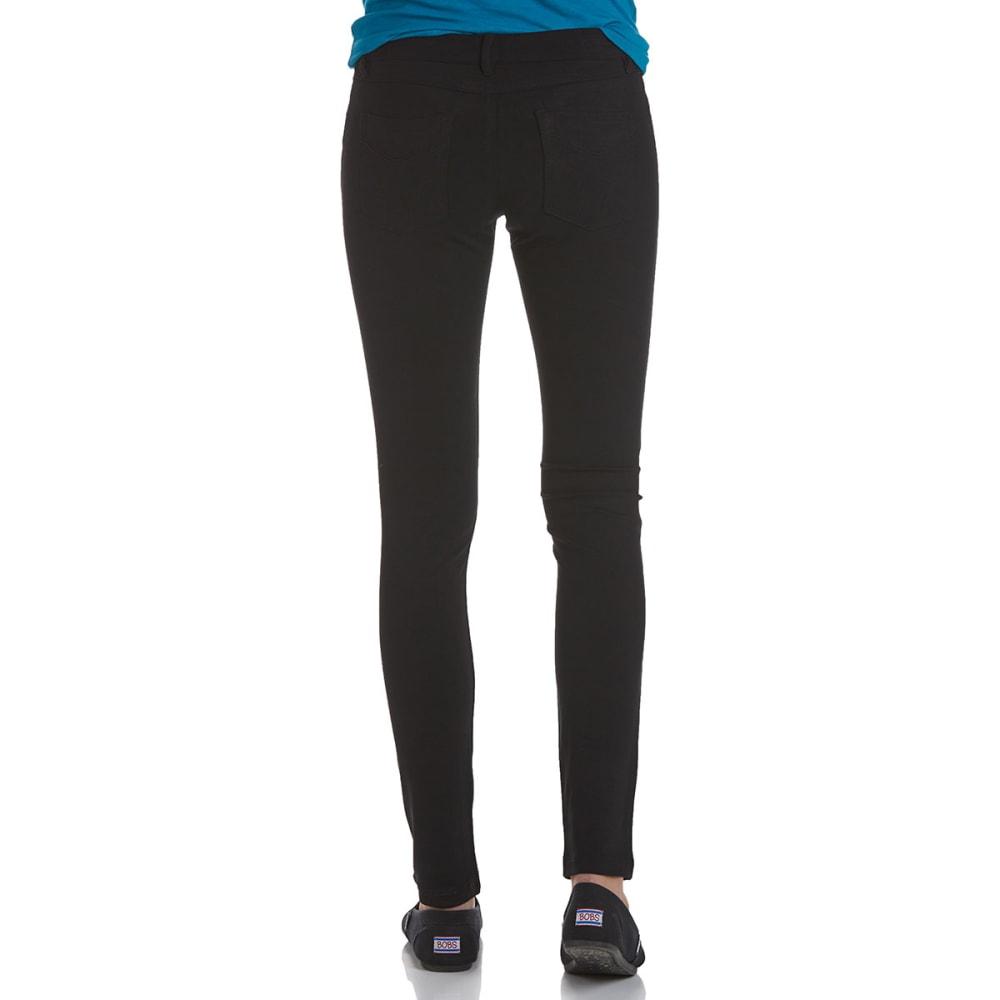 SHINESTAR Juniors' Ponte 5-Pocket Pants - BLACK