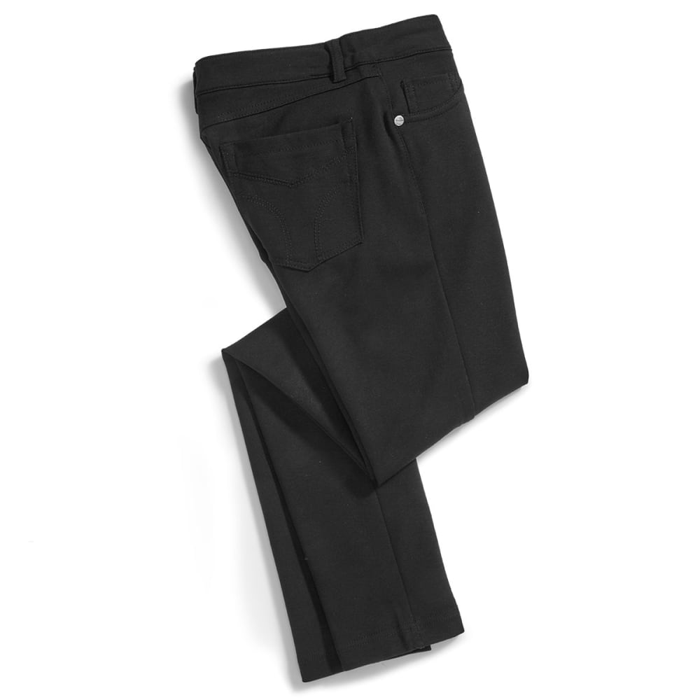 SHINESTAR Juniors' Ponte 5-Pocket Pants - BLACK