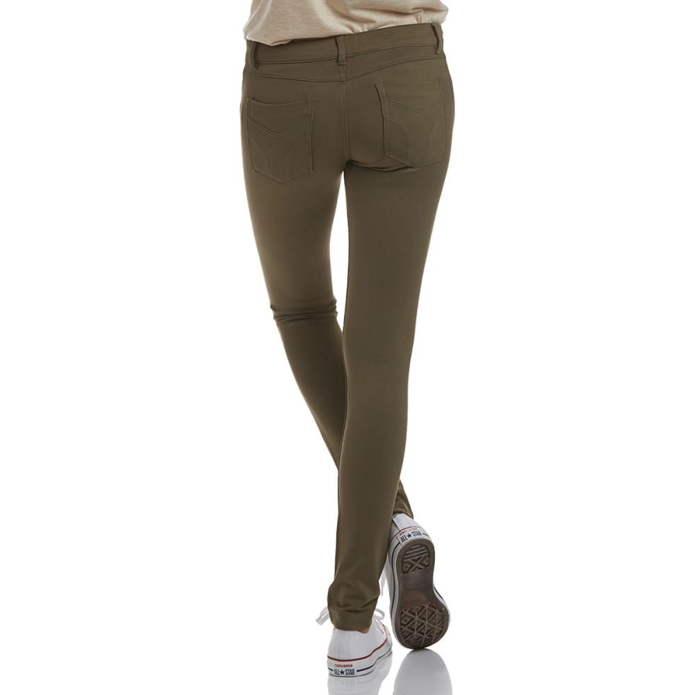 SHINESTAR Juniors' Ponte 5-Pocket Pants - OLIVE