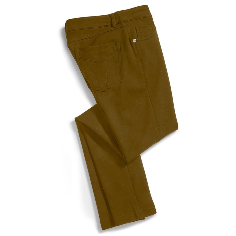 SHINESTAR Juniors' Ponte 5-Pocket Pants - DK OLIVE