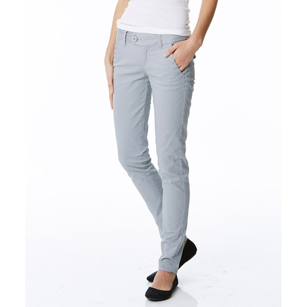 FREESTYLE Juniors' Twill Skinny Pants - CEMENT GREY