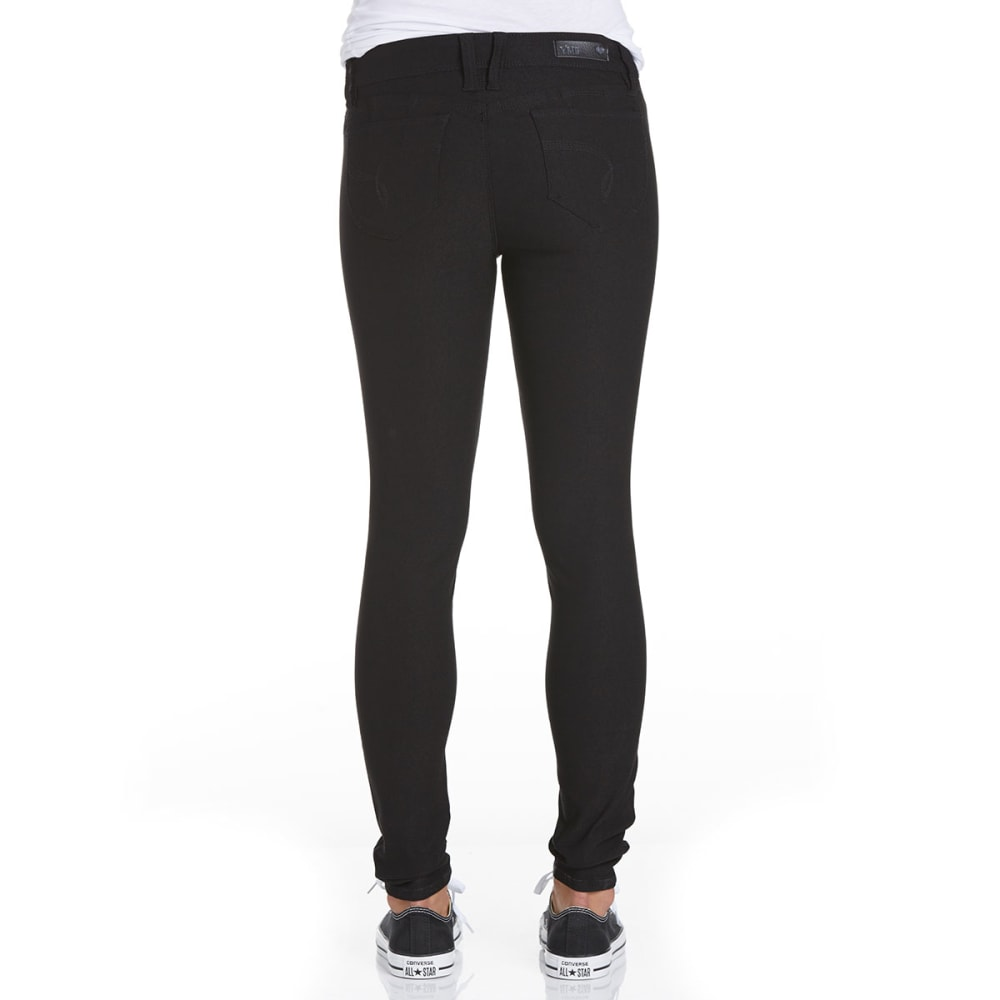 YMI JEANS Juniors' Hyperstretch Twill Pants - BLACK