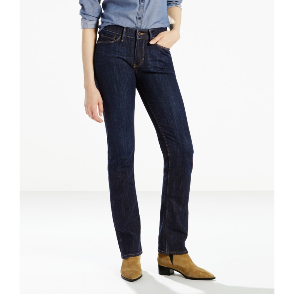 LEVI'S Women's 525 Straight Cut Jeans - 0056-BLUE SPRINGS