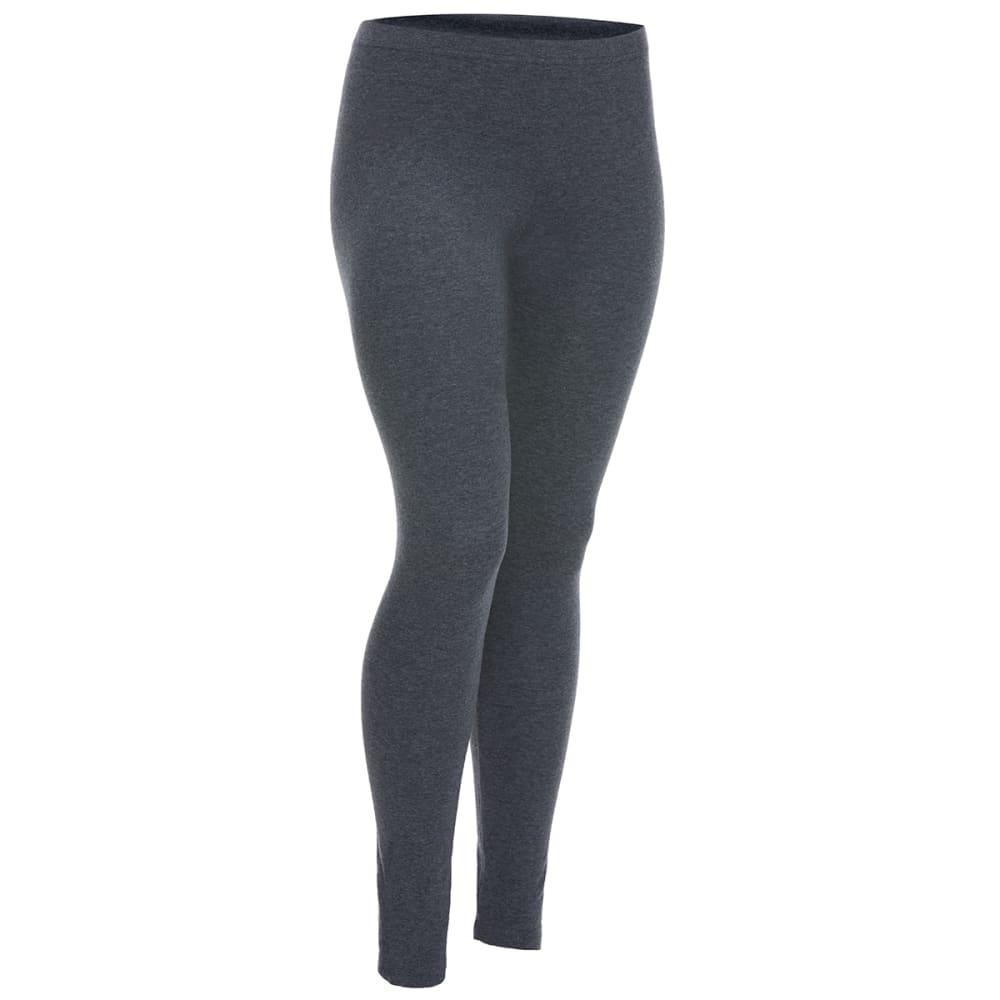FEMME Women's Solid Leggings - CHARCOAL