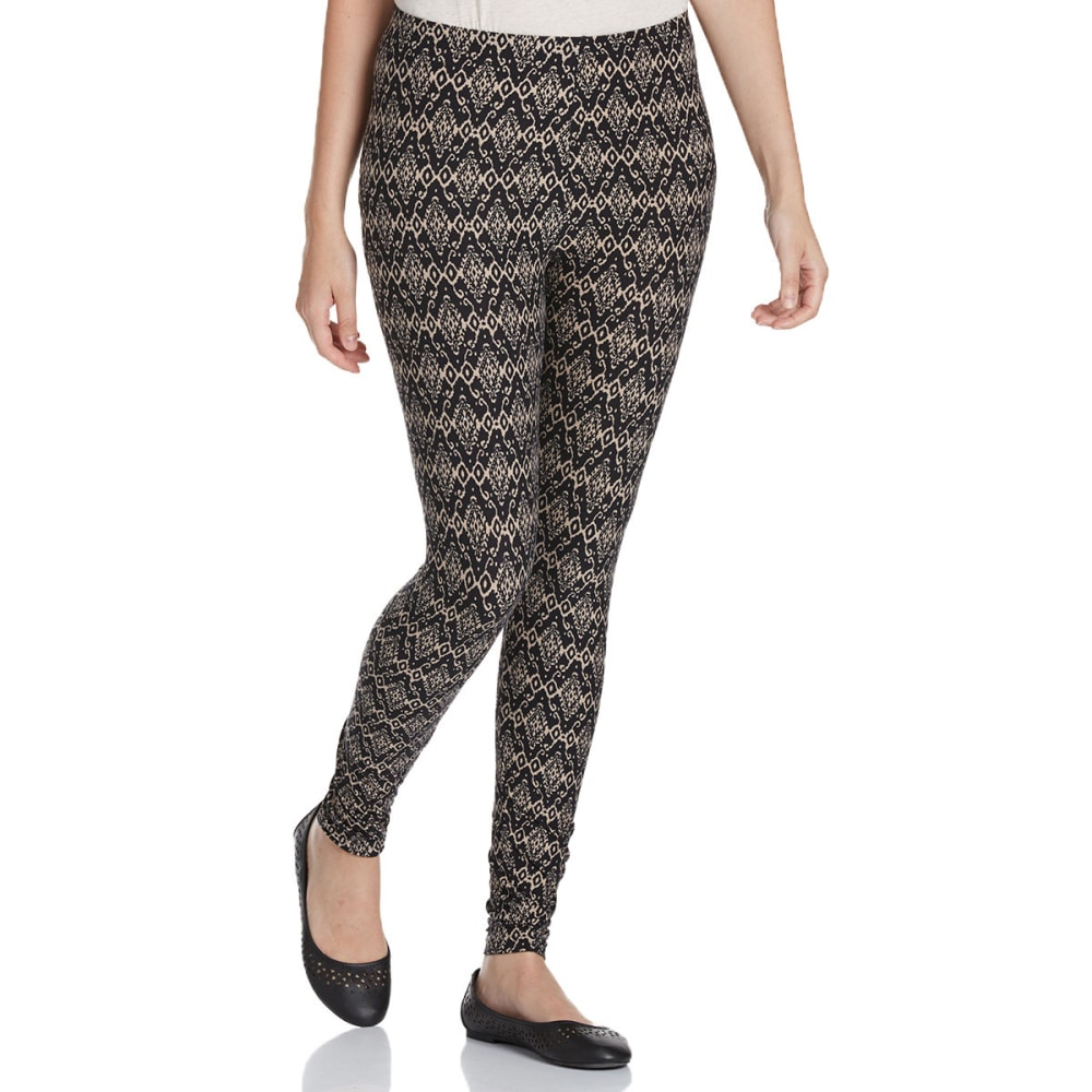 FRENCH LAUNDRY Women's Printed Leggings - BLACK/BEIGE