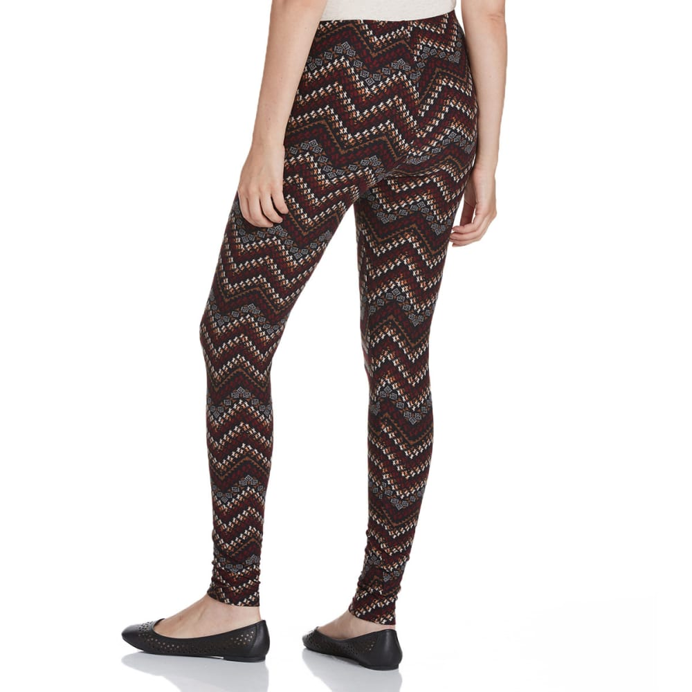FRENCH LAUNDRY Women's Printed Leggings - WINE