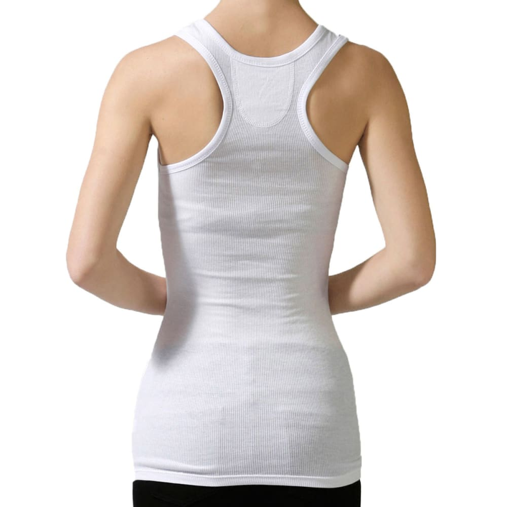 ACTIVE BASIC Juniors' Boy Racer Back Tank - WHITE