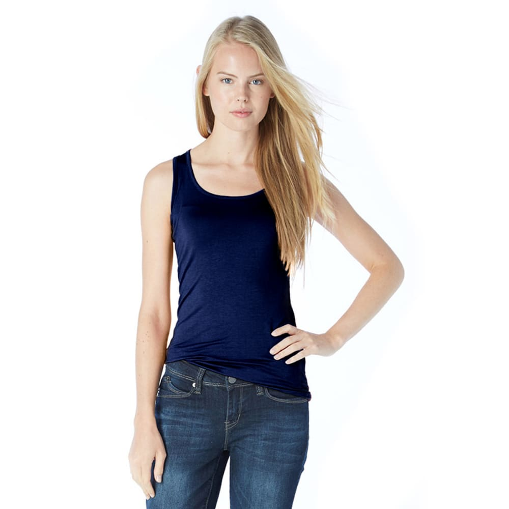 ZENANA Juniors' Double Scoop Tank Top - BLOWOUT - NAVY