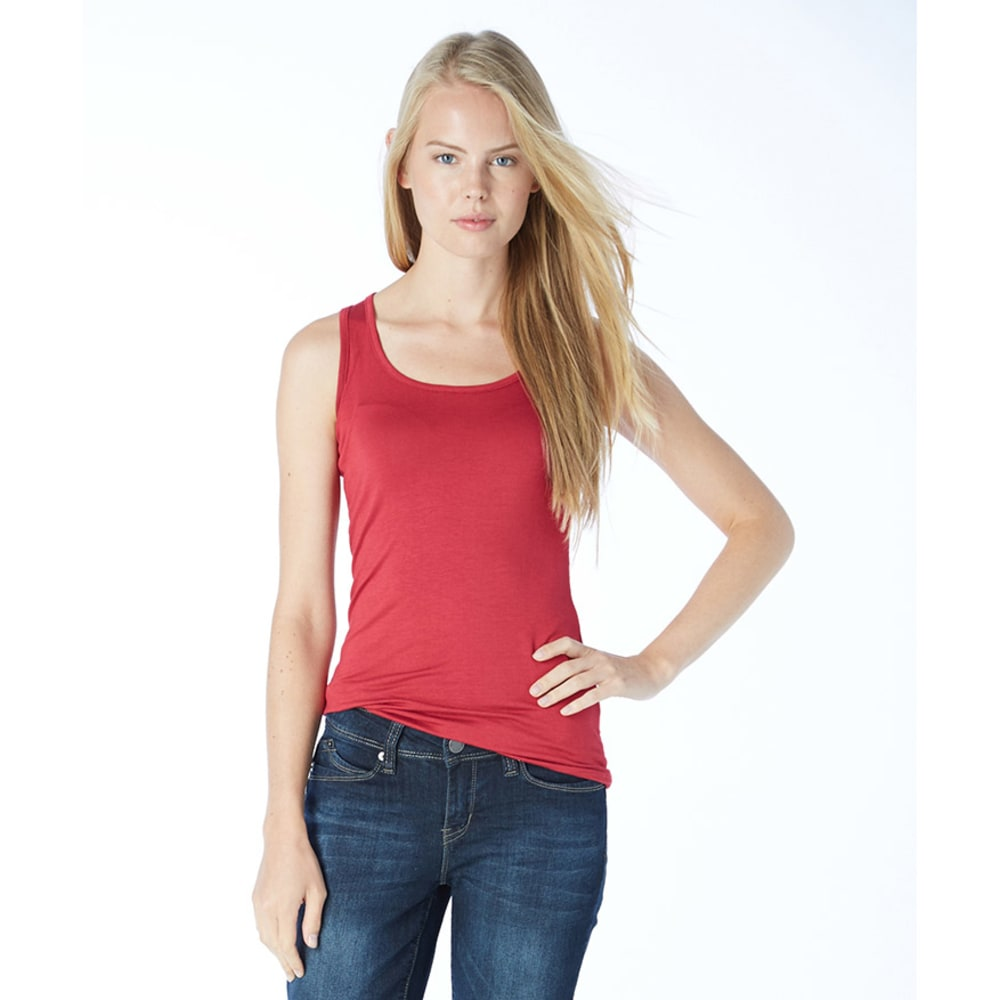 ZENANA Juniors' Double Scoop Tank Top - BLOWOUT - BURGUNDY