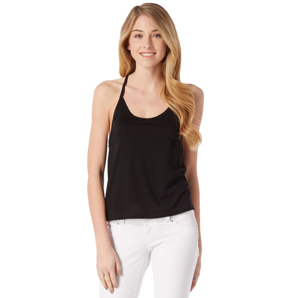POOF Juniors' Racer Back Tank - BLACK